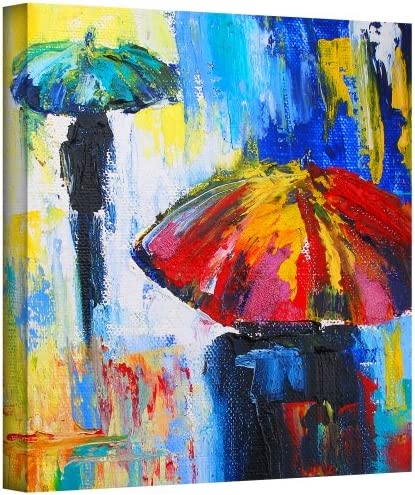 Art Wall Red Umbrella Gallery Wrapped Canvas Art