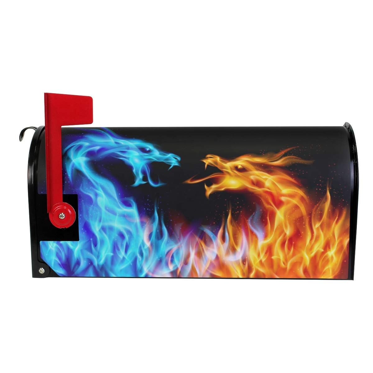 MOFEIYUE Abstract Fiery Animal Dragon Magnetic Mailbox Cover for Home Garden Yard Deco Makeover Mail Wrap