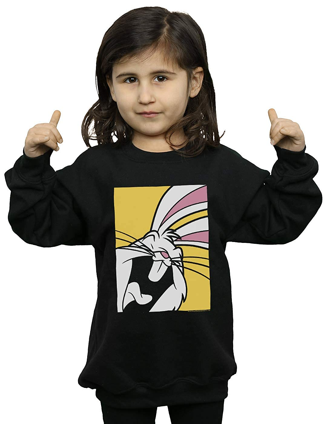 Absolute Cult Looney Tunes Girls Bugs Bunny Laughing Sweatshirt