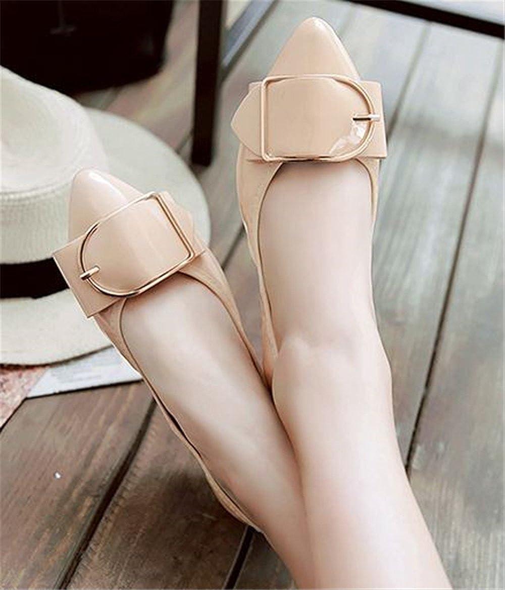 messieurs et mesdames les glisser sur plats plats plats l'orteil pointu boucle decor cuirs mariage ballet chaussure élégante et sturdy repas hv3908 sauvages livraison rapide bien b48b47