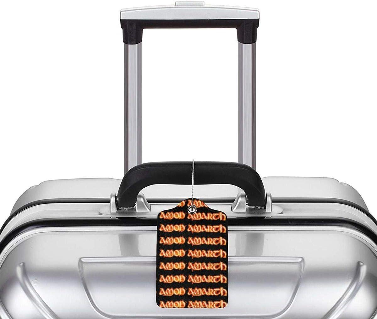 LIKUNMING Amon Amarth Logo Travel Luggage Tags Travel Suitcase Bag Labels Checked Baggage Tags