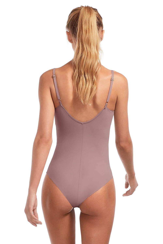f49e9c20ff4 Vitamin A Women's Muse BodySculpt Ebony Gaia Bodysuit One Piece Swimsuit at Amazon  Women's Clothing store:
