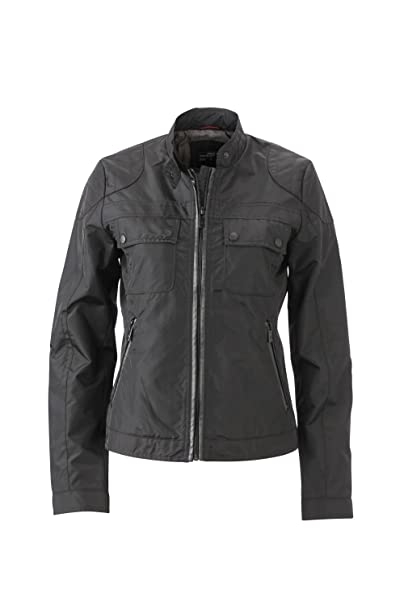 Ladies Biker Jacket in black Size: S