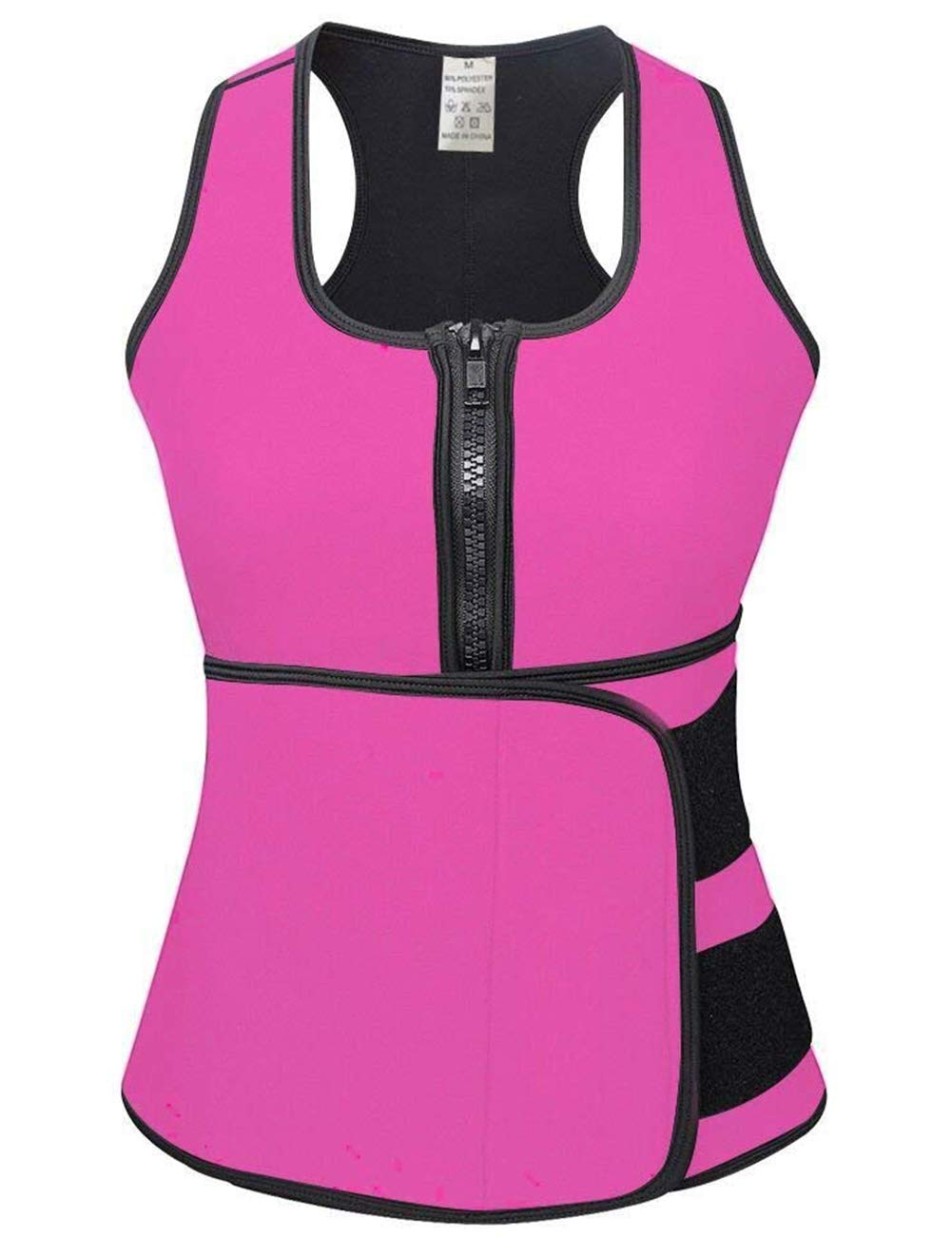 (Large, Pink) - HEXIN Neoprene Sauna Waist Trainer Weight Loss Shapewear With Adjustable Waist Trimmer Belt S-4Xl Size   B07CWQ69R5