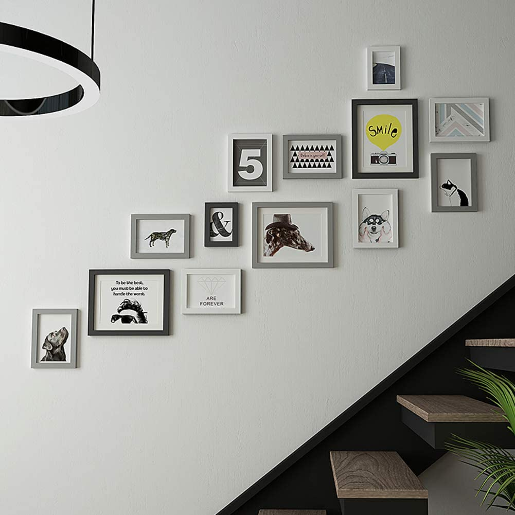 Photo frame Wall Wall Creative combination Louver Corridor Background Wall decoration Wall photo frame-E HY/&PPJQ Stairs Photo Wall