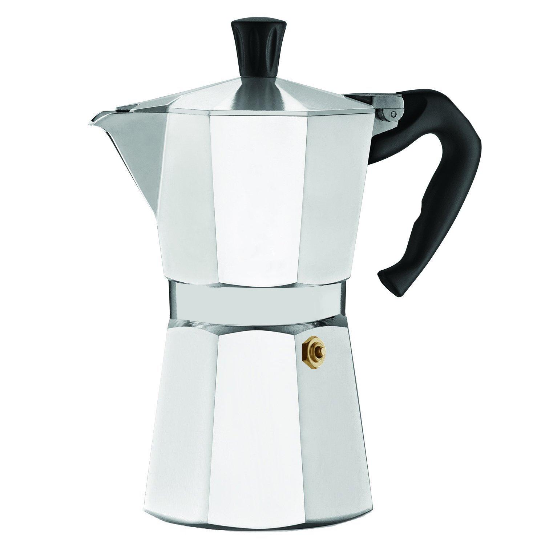 LavoHome Premium Italian 6 Cup Stovetop Espresso Coffee Maker, Aluminum