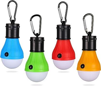 Yizhet 4 Pack Tienda de Campaña Luces Farol de Camping LED Lámpara Camping Portátiles Impermeable Camping Luz de Emergencia, para Pesca, ...