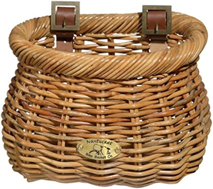 Nantucket Bike Basket Co Classic Lightship Basket Brown Free Shipping