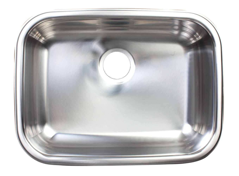 Kindred FSUG100-18BX Single-Bowl Under Mount Kitchen Sink, Stainless Steel by Kindred