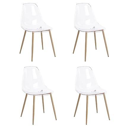 Sillas de comedor GreenForest Eames estilo sillas modernas ...