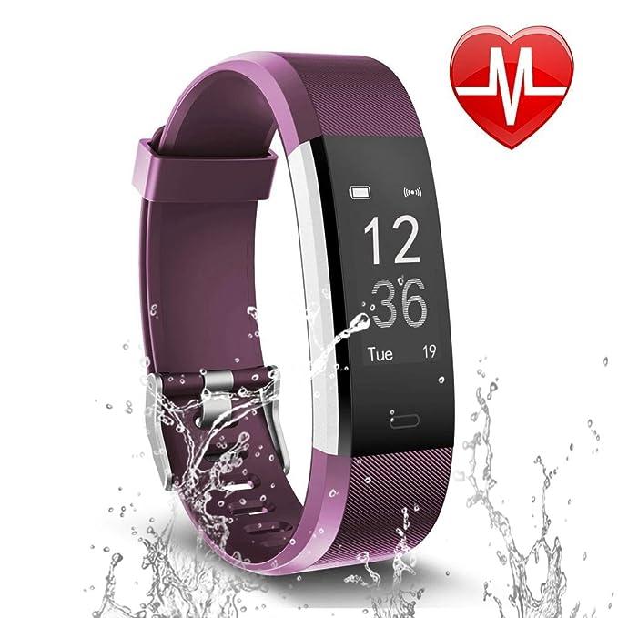 Letsfit Fitness Tracker HR, Activity Tracker Uhr mit Herzfrequenz-Monitor, IP67 Wasserdicht Smart Armband als Kalorienzähler