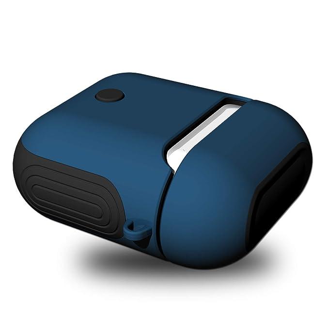 Riyeri Funda para AirPods Duro Case Protective Silicone Skin Parachoque Protección Caso Vistoso Carcasa para Apple Airpods