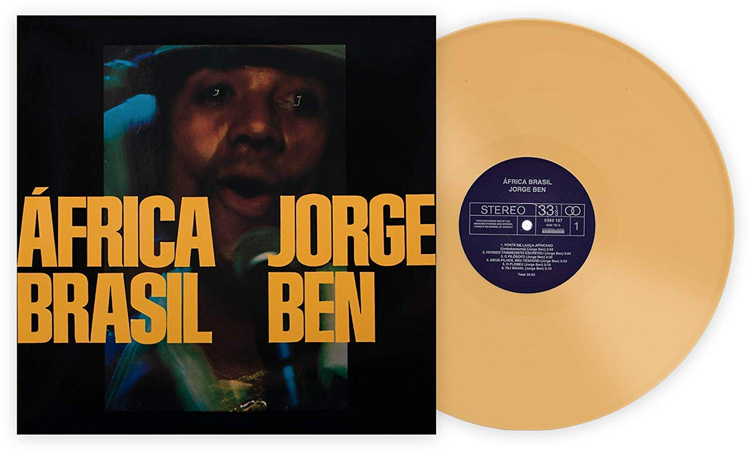 África Brasil - Exclusive Club Edition Yellow 180 Gram Vinyl LP [Condition-VG+NM] by Universal Music Special Markets