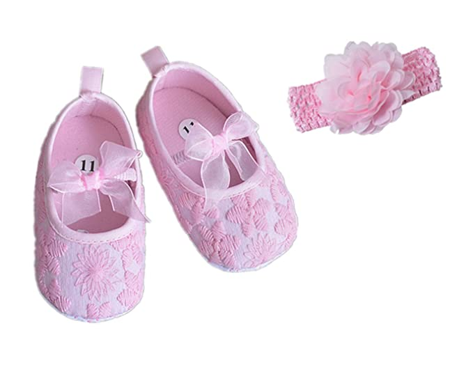 1b6a8d90c5cad Amazon.com: H.X Newborn Baby Girls Princess Embroidered Bowknot Soft ...
