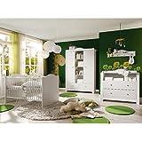 Babyzimmer Kinderzimmer Saint Tropez Weiss Holz Massiv Komplettset