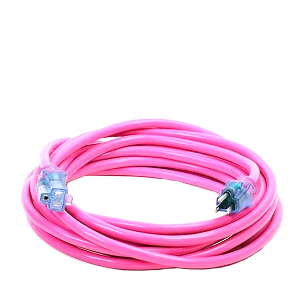 100 Foot 12 3 Pro Glo Extension Cord With Power Ground Check 610w Telephone Wall Socket Wiring Lights Your Name On