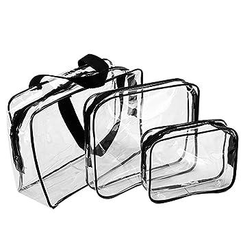 Enkrio - Juego de bolsas de aseo de PVC transparente para ...