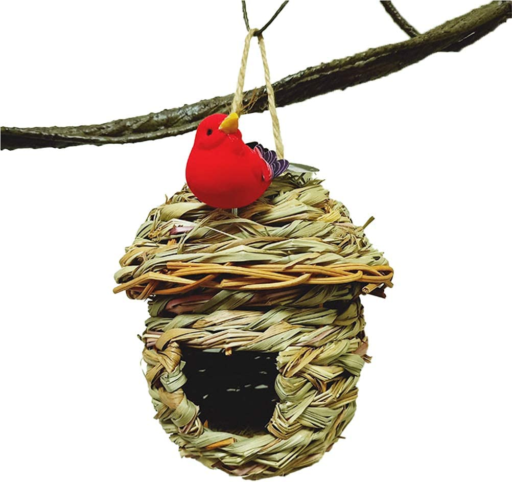 LZJDS Casa De Pájaros Tejida A Mano Nido De Hierba Nido De Cubierta Adecuado para Jardines Interiores Y Exteriores Sin Dañar A Los Pájaros,02