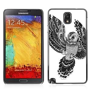 iKiki-Tech Hard Case Cover for Samsung Galaxy Note 3 - Beautiful Japanese Tattoo Owl