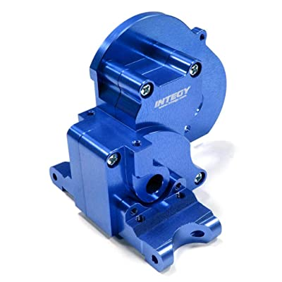 Integy RC Model Hop-ups T7983BLUE Alloy Gearbox Housing for Traxxas 1/10 Stampede 2WD, Rustler 2WD & Bandit XL5: Toys & Games