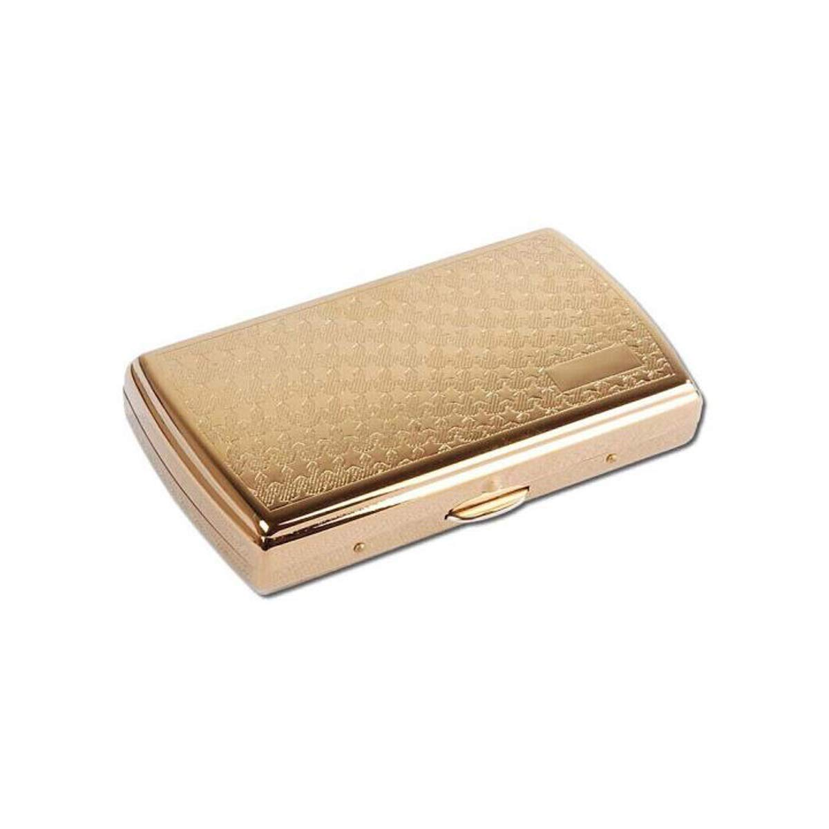 WENPINHUI Cigarette Case, Cigarette Case, 12 Pieces of Cigarette Holder, Copper-Plated Titanium Plating Process (Color : Gold, Style : A) by WENPINHUI