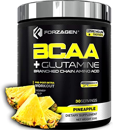 Forzagen Bcaa Powder Glutamine – Bcaa Amino Acids With Electrolytes Keto Friendly And Essential Amino Acids Supplements Post Workout Recovery Drink. PINEAPPLE
