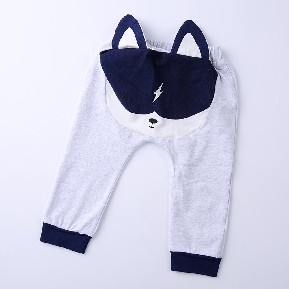 Baby Boys Autumn Winter Cartoon Animal Ears Cute Pattern Pants Trouser Gift