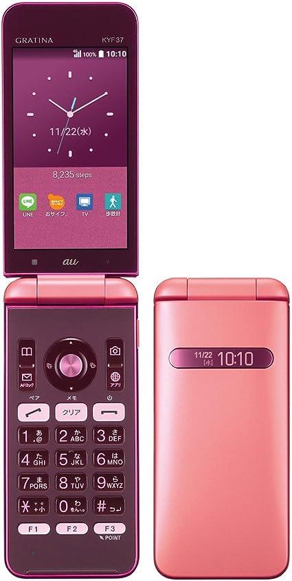 Amazon   au KYOCERA GRATINA KYF37 KYF37SPA Pink ピンク 白ロム ...