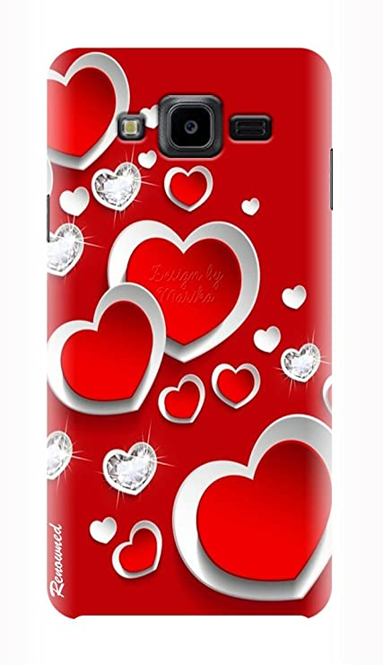 hot sale online bc702 181c9 RENOWNED Red Heart Design Printed Back Case Cover For: Amazon.in ...