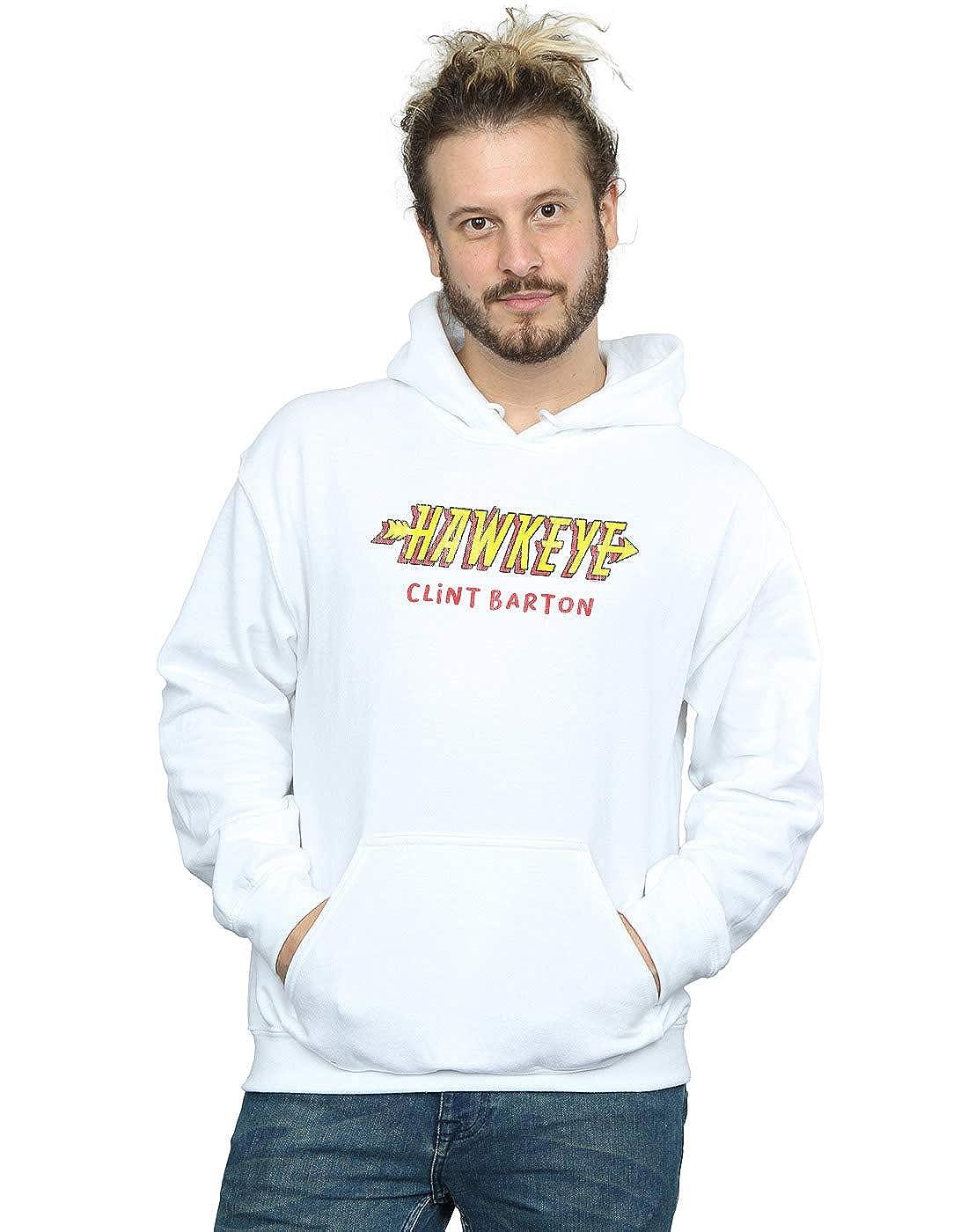 Marvel Homme Hawkeye AKA Clint Barton Sweat À Capuche