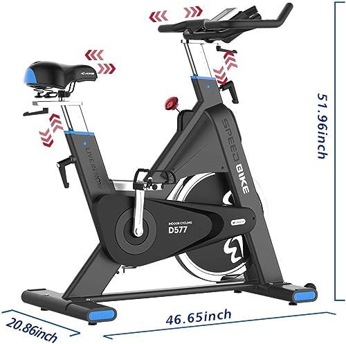 pooboo Exercise Bike 44lbs Flywheel Indoor Cycling Bike Stationary Bike