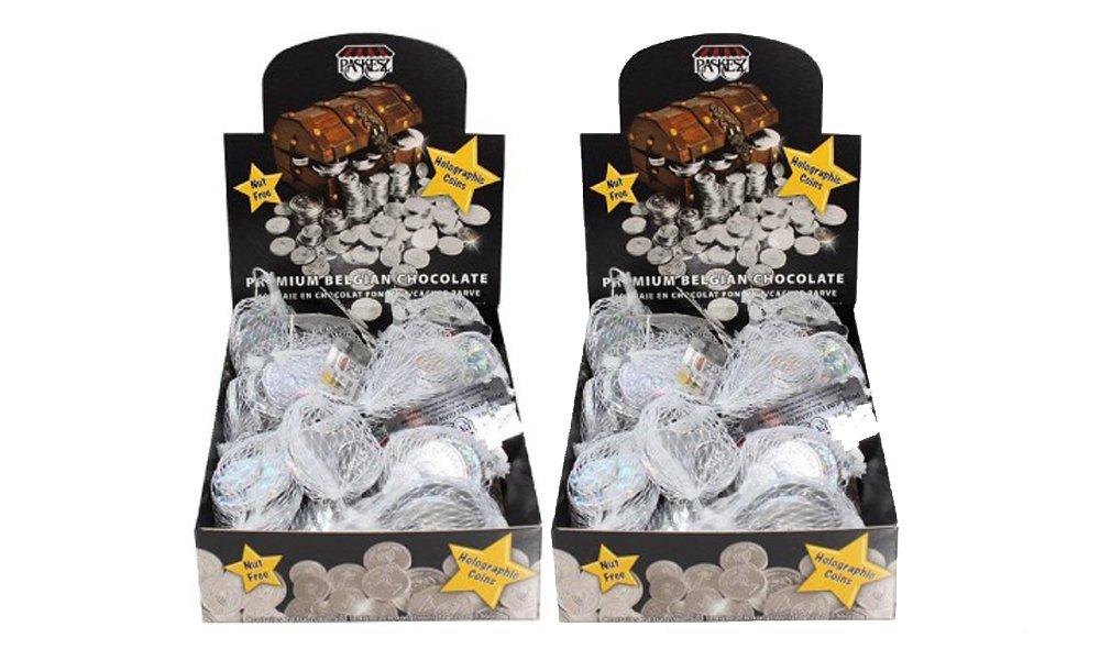 Hanukkah Holographic Foil Wrap, 24 Sacks each, Nut Free, Dairy Free Coins - 2 Pack…