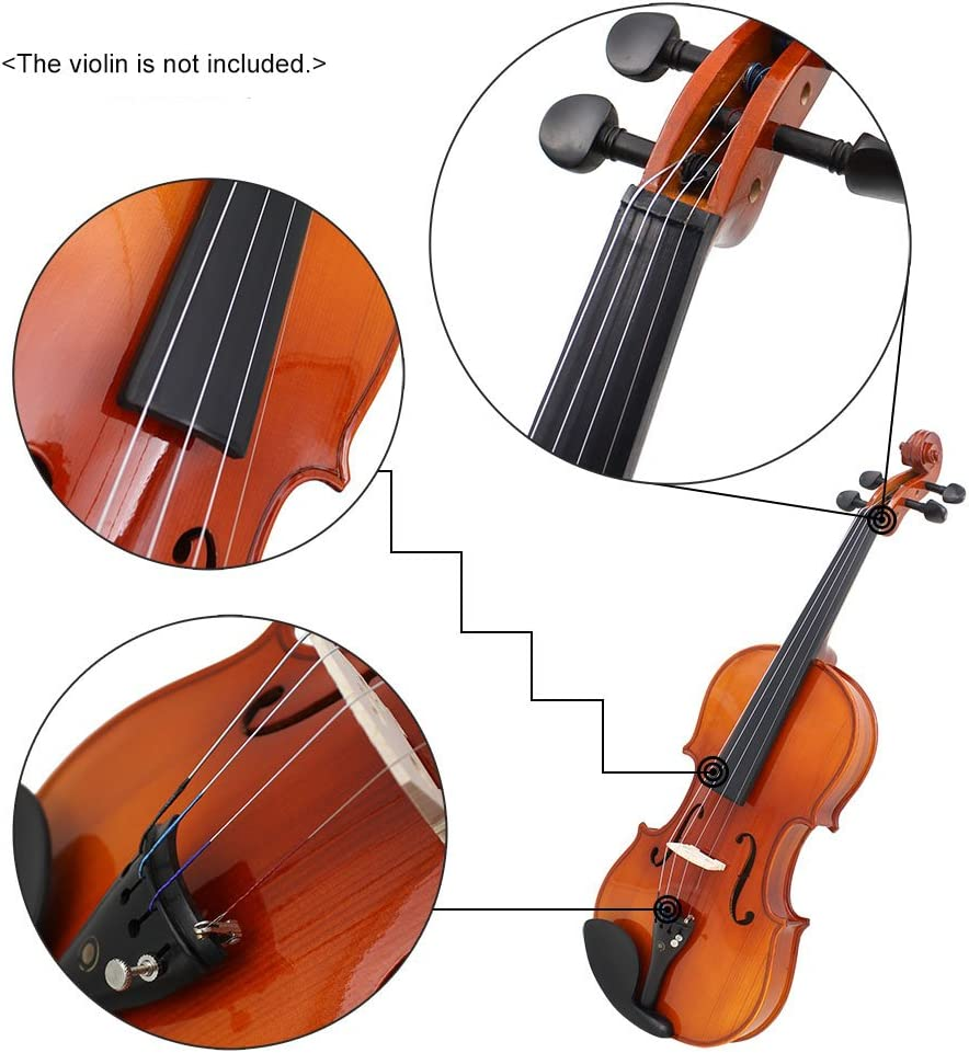 Violin Fiddle String Strings Steel Core Nickel-Silver Wound with Nickel-Plated Ball End for 4//4 3//4 1//2 1//4 Violins E-A-D-G Sangmei Universal Full Set