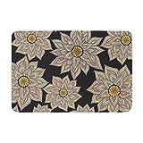 KESS InHouse Pom Graphic Design ''Floral Dance in the Dark'' Memory Foam Bath Mat, 24'' x 36''