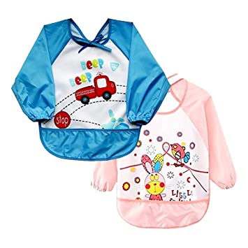 Amazon.com: onme Arte Smock dibujos animados Infant bebé ...