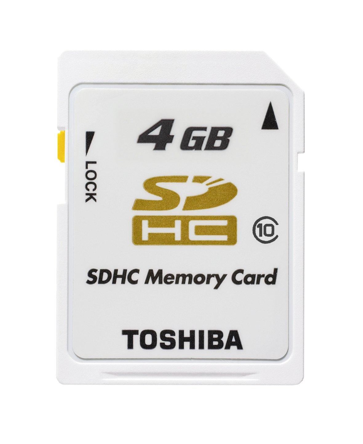 Toshiba SD-T04GJ (BL5) - Tarjeta de memoria SDHC 4 GB, class 10, color blanco