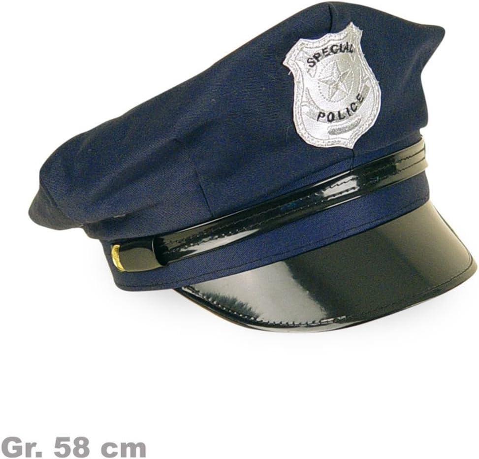 Polizei-Hut Polizeimütze Kinder Cap Karneval Cop Polizist Fasching 176a