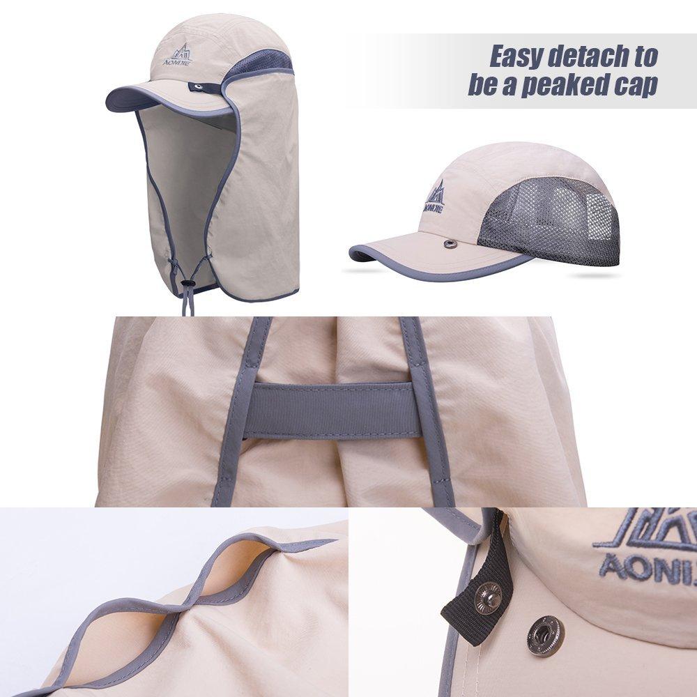 Lixada UV Protection Hat UPF 50 Outdoor Fishing Camping Hiking Climbing Gardening Sun Protection Cap with Detachable Neck Flap