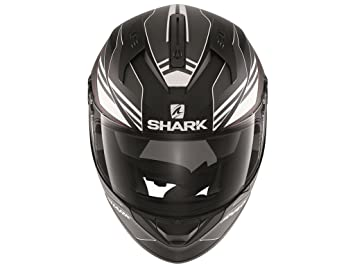 Shark – Casco de Moto para ridill Tika Mat Negro de antracita de color blanco Talla