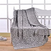 Dometool Cable Knit Throw Comforter Blanket 100% Cotton 130 x 180 cm Washable Sofa Throw or Single Bed Blanket