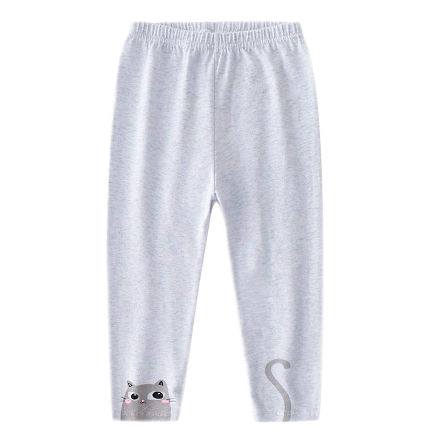 Evelin LEE 4 Packs Baby Girls Cotton Stretchy Tapered Pants Cute Skinny Pajamas Leggings by Evelin LEE (Image #2)