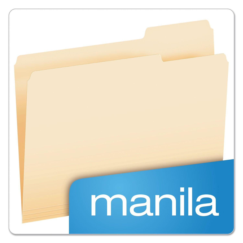 1//3 Cut Letter Manila Pendaflex Essentials 752133 File Folders 100//Box Top Tab Third Position