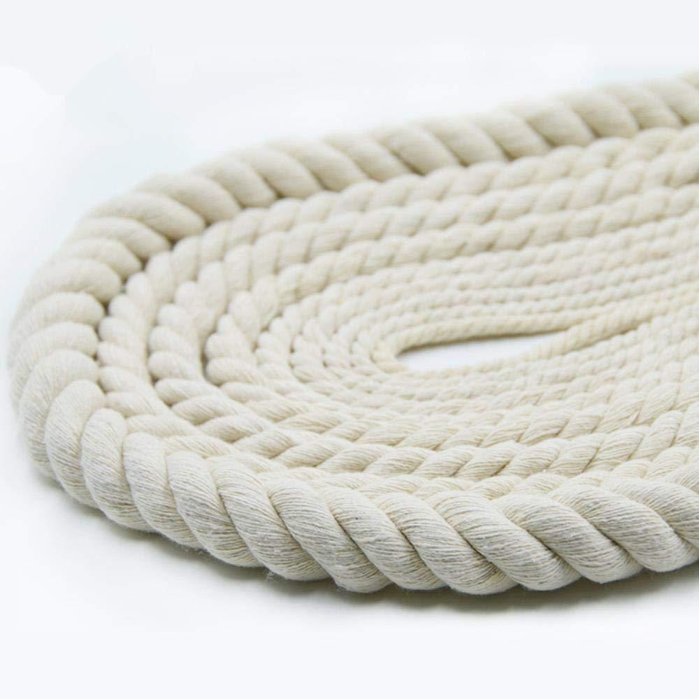 Corde di Cotone Spesse di Corda di Cotone Beige da 4mm-20mm per la casa Decorare a Mano Fai da Te Rafforzare la Corda di Accessori 10 Metri 10mm 10 Metri