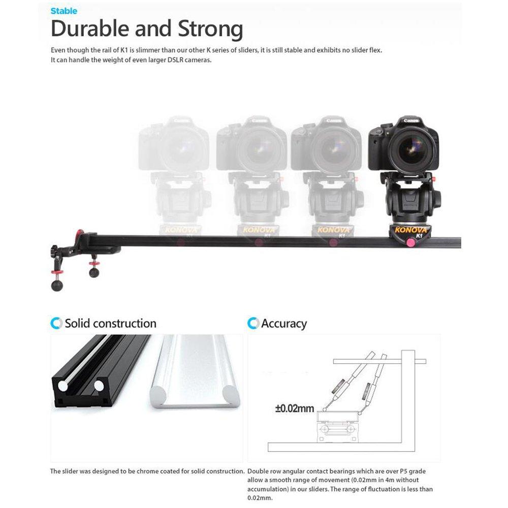 Konova Portable Slider Dolly K1 60cm: Amazon in: Electronics
