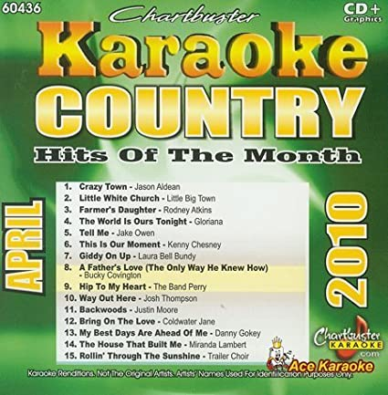 Chartbuster Karaoke CDG CB60436 - Country Hits of the Month April 2010
