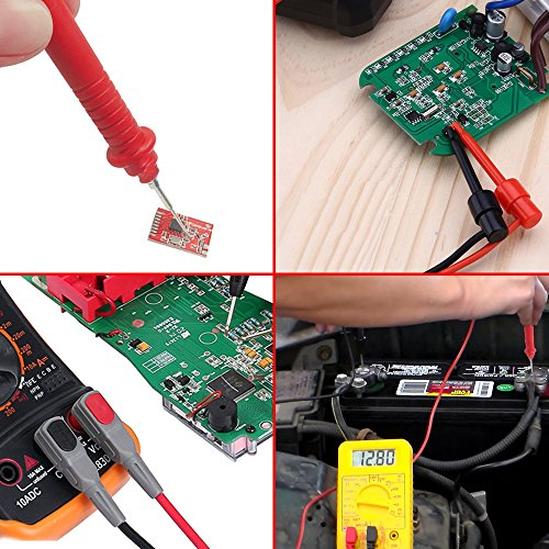 Amadget Electronic Test Leads Kit with Test Extension, Professional Multimeter Leads Volt Meter Clamp Meter Leads with Alligator Clips Replaceable Multimeter Probes Tips Set of 14 by Amadget (Image #5)