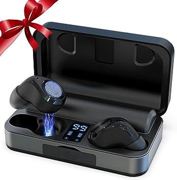 Auriculares Inalámbricos, Bluetooth 5.0 Auriculares con micrófono 60H Reproducción 3000mAh con Caja de Carga Táctil Estéreo Hi-Fi Auriculares con Ruido de Cancelación Profunda IPX5 Resistente al Agua: Amazon.es: Electrónica