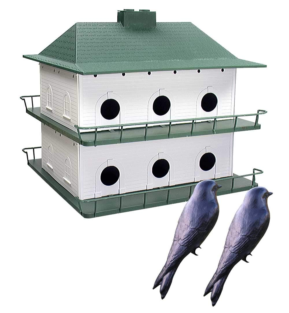 BestNest 12-Room Two-Story Purple Martin House with Decoys
