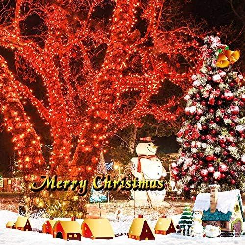 FEE-ZC Luces de Hadas de Navidad solares, 32M 300 LED Luces de Cadena de árbol Solar Impermeable al Aire Libre para Fiesta en el jardín al Aire Libre