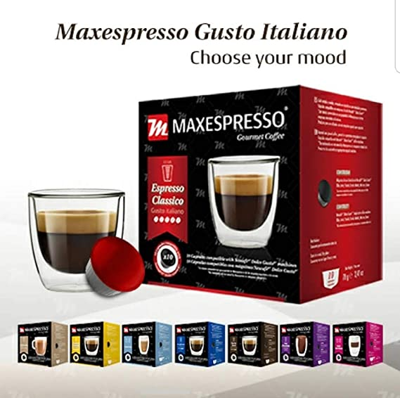 Amazon.com: MaxEspresso Gourmet Coffee,100% Made In Italy. - (Dolce Gusto Compatible Coffee Capsule) (Cioccolate - Hot Chocolate, 1 Pack of 10 Capsules): ...